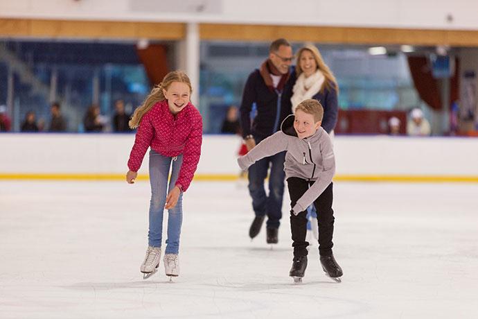 Ice skating docklands