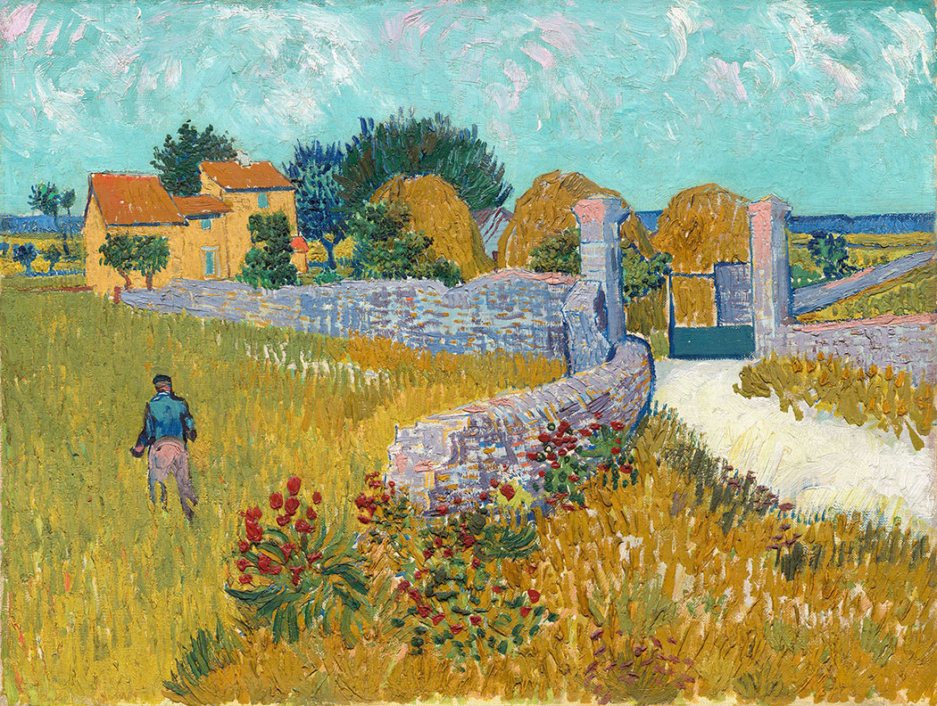 Vincent van Gogh Dutch 1853 – 90 Farmhouse in Provence June 1888 Arles oil on canvas 46.1 x 60.9 cm National Gallery of Art, Washington Ailsa Mellon Bruce Collection