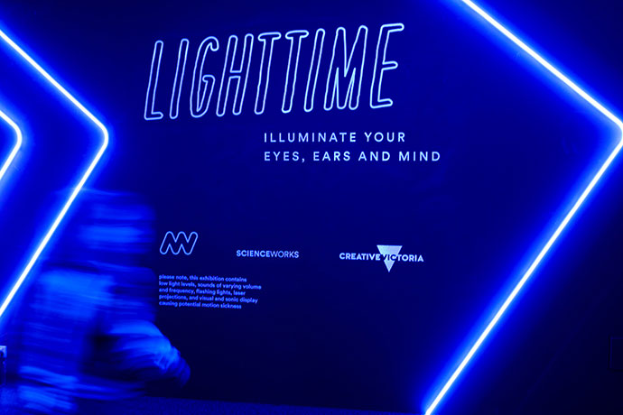 LightTime, school holiday activity idea Melbourne, Scienceworks mypoppet.com.au