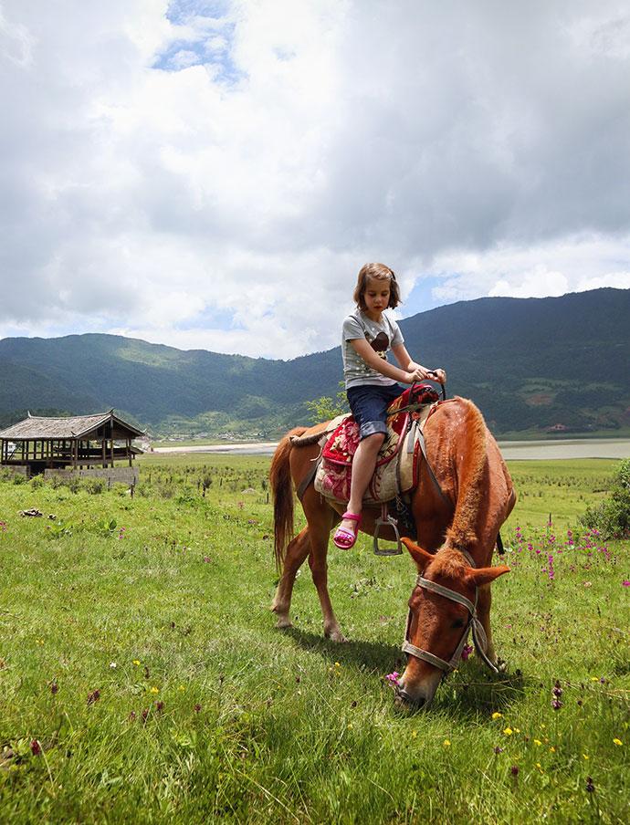 Horse riding Lijiang China - mypoppet.com.au