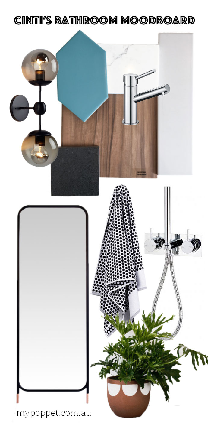 Bathroom renovation moodboard