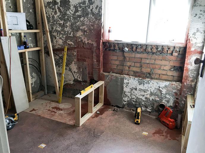 Bathroom renovation progress