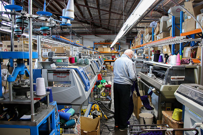 Otto & Spike knitwear factory brunswick