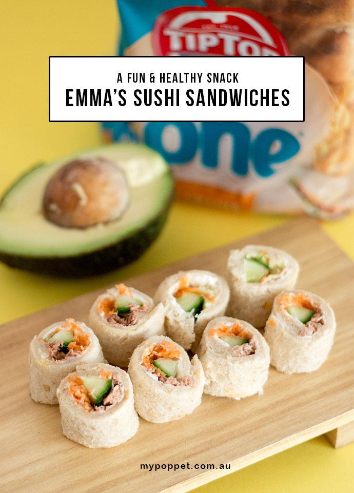 Lunch Box Idea - Sushi Sandwiches - mypoppet.com.au