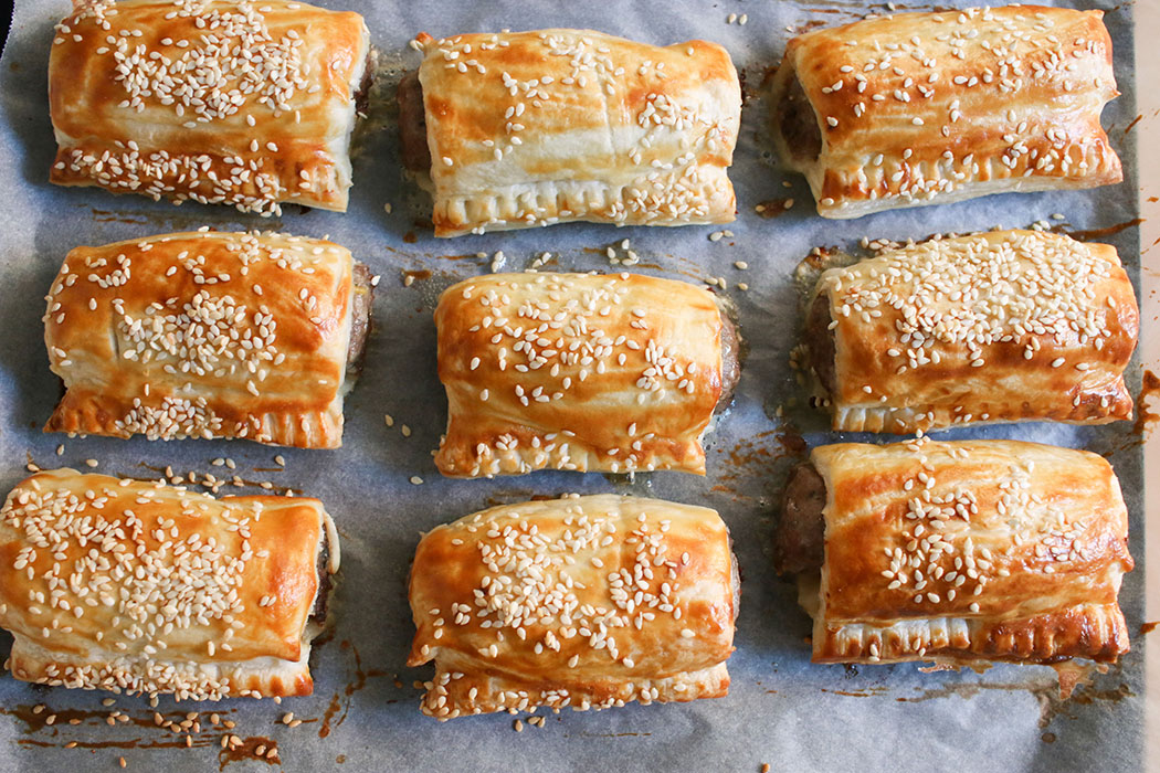 Easy Homemade Sausage rolls recipe mypoppet.com.au