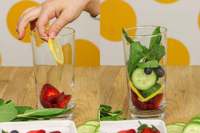 How to make a fruit spritzer drink