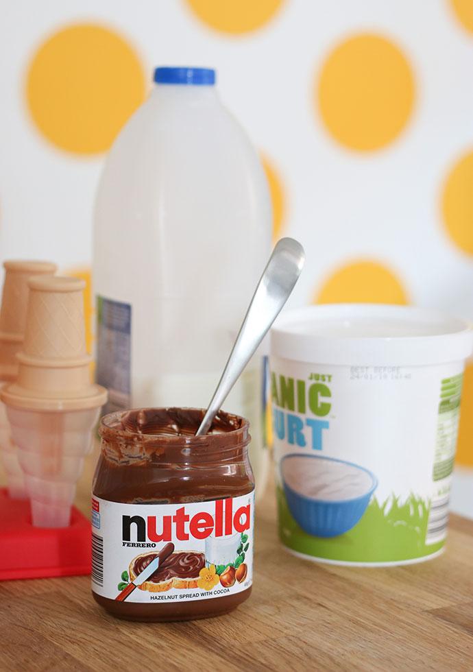 Ingredients - Nutella ice pops - mypoppet.com.au