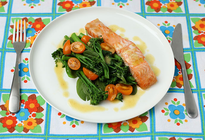 Baked Salmon with Broccolini - mypoppet.com.au