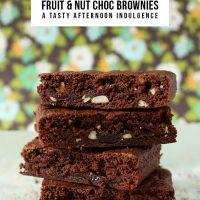Fruit & Nut Choc Brownies