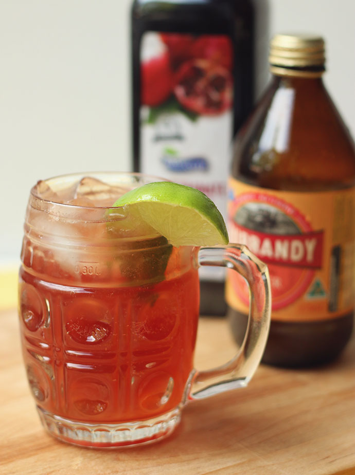 Pomegranate Moscow Mule - mypoppet.com.au