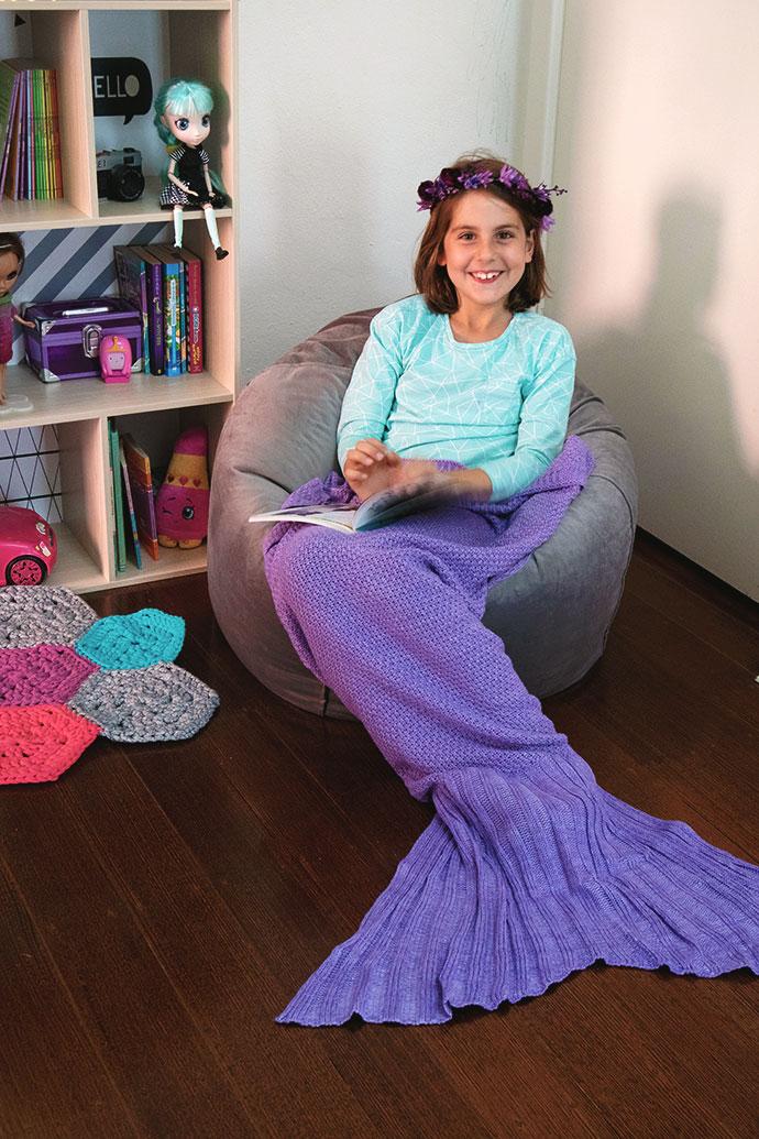Mermaid tail blanket from ALDI