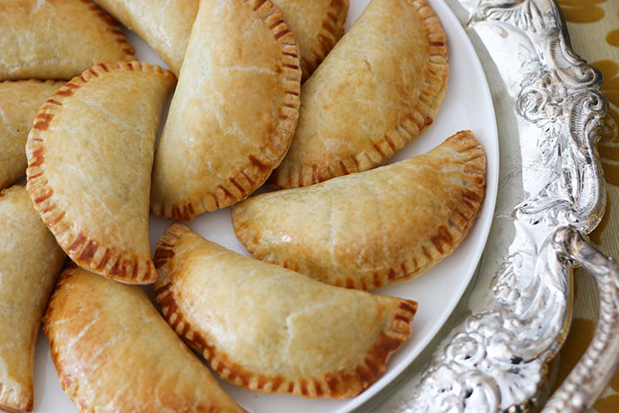 Harry Potter Savoury Pumpkin Pasties on white plate - mypoppet.com.au