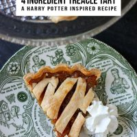 4 Ingredient Treacle Tart - A Harry Potter Inspired Recipe