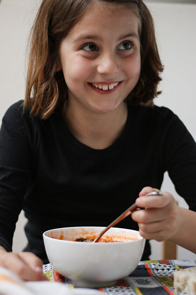 girl eating minestrone soup - mypoppet.com.au