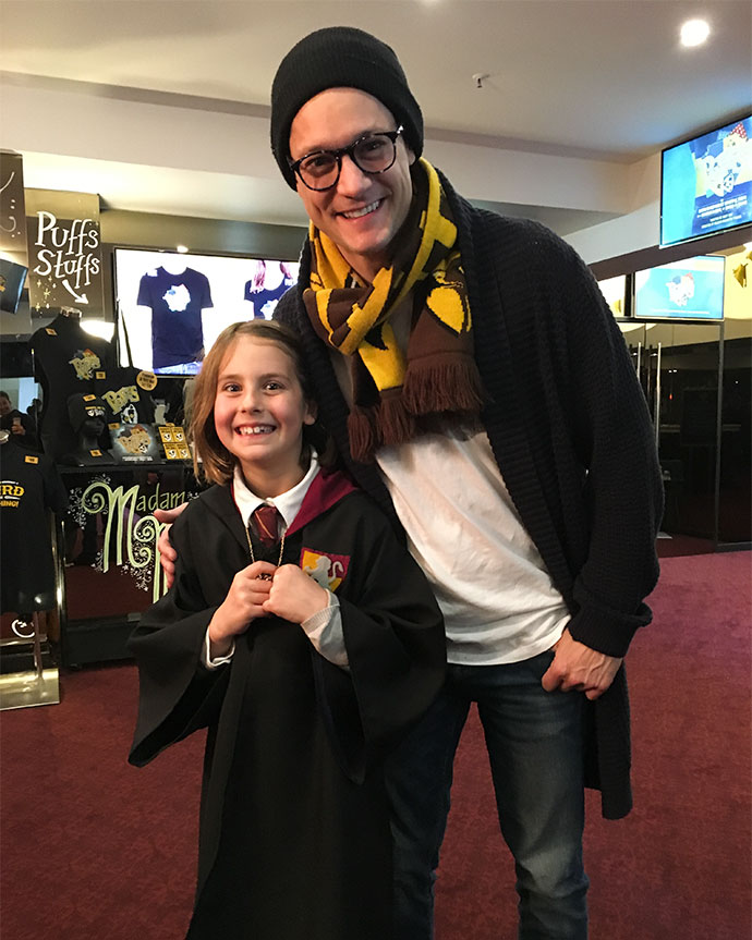 Puffs - Rob Mills with a young fan