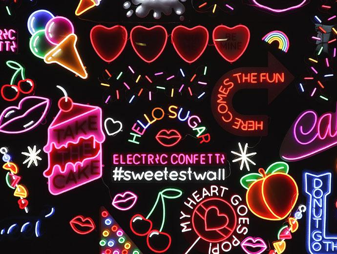 Sugar Republic Melbourne -neon wall - mypoppet.com.au