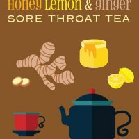 Honey, Lemon & Ginger Sore Throat Tea