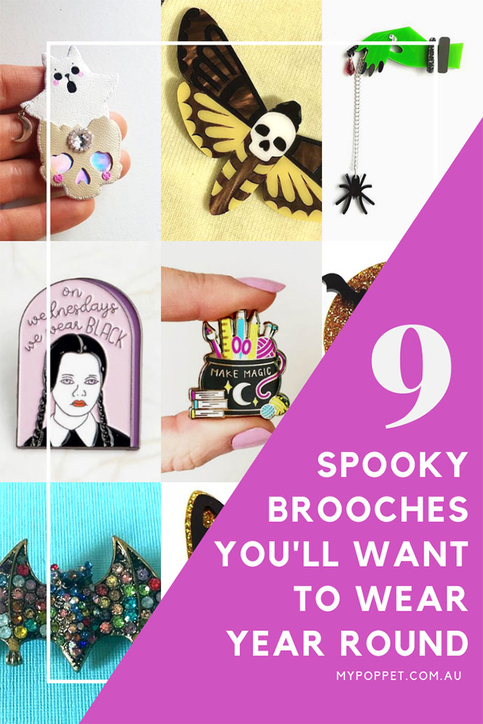 Best halloween pins and brooches - mypoppet.com.au