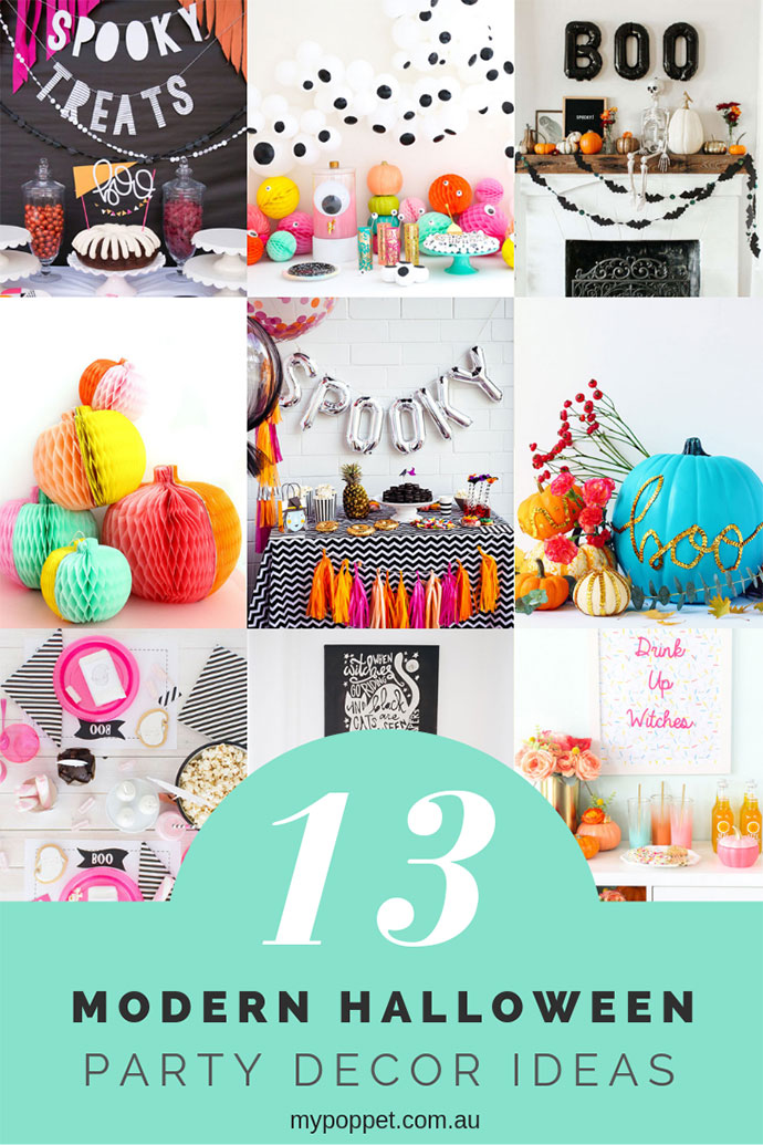 Modern Halloween Party Decoration Ideas - mypoppet.com.au