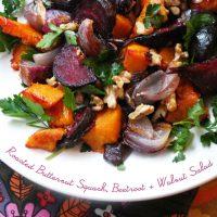 Roasted Butternut Squash, Beetroot & Walnut Salad