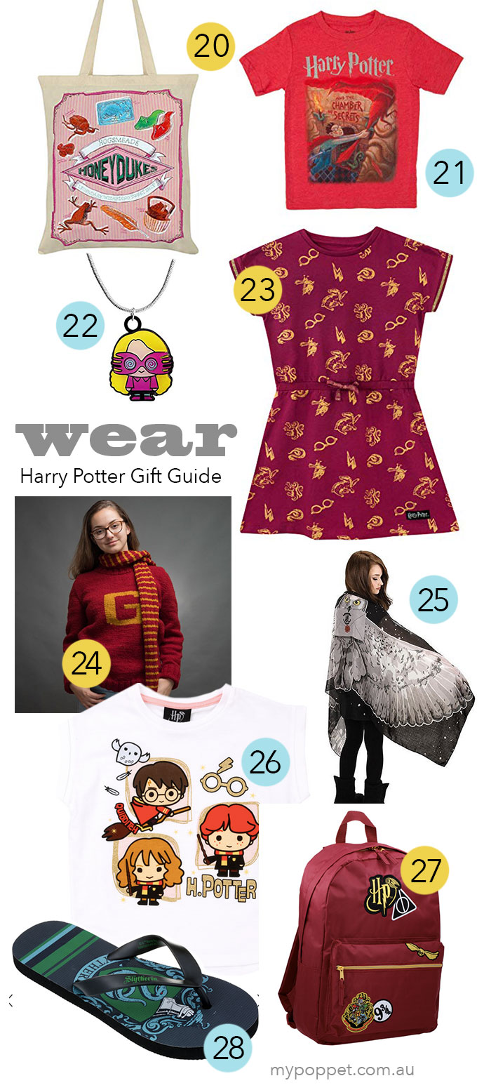 The Ultimate Harry Potter Gift Guide Gifts to wear- mypoppet.com.au