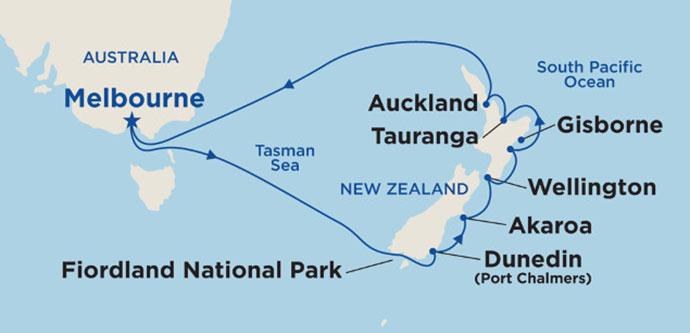 New Zealand Cruise Itinerary