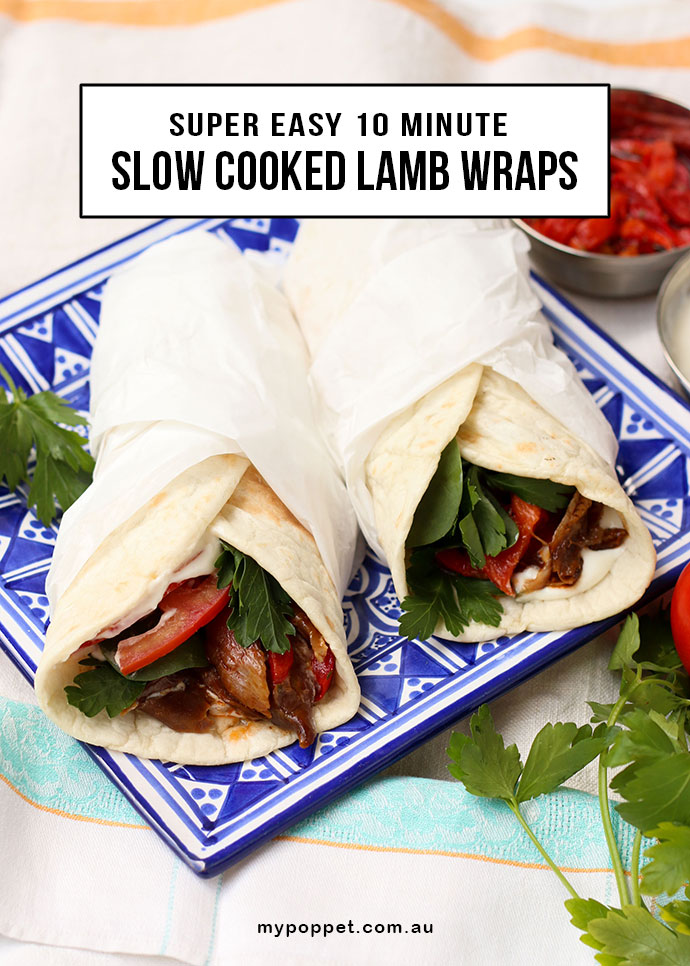 Easy Slow cooked Lamb wraps with Chef Direct Lamb Shanks - mypoppet.com.au