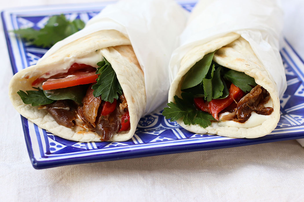slow cooked lamb shanks greek style wraps - mypoppet.com.au