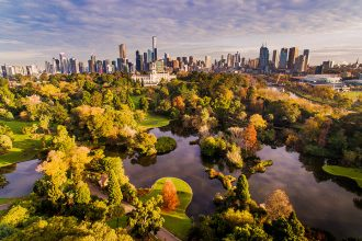 Botanical Gardens Melbourne Autumn