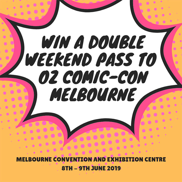 Melbourne Oz Comic-Con Giveaway Graphic