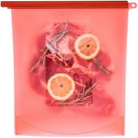 Gallon Size Reusable Silicone Food Storage Bag - Freezer Bags (2pack)