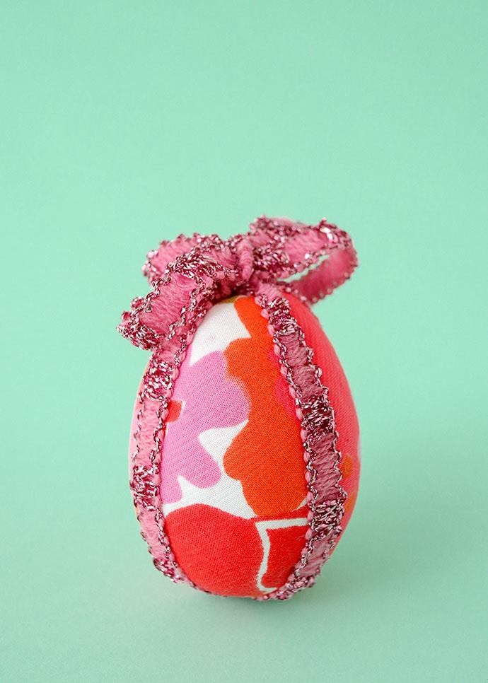 How to make fabric covered Easter Eggs - mypoppet.com.au