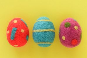 Easter Craft: Needle Felted Easter Eggs