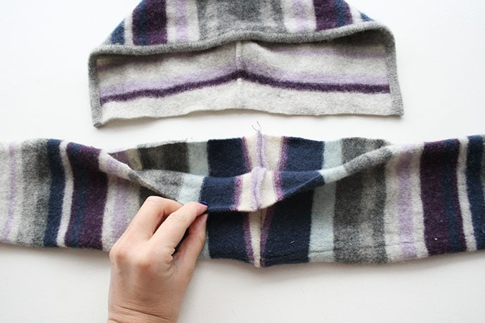how to make a scarf with hood sewinginstructions