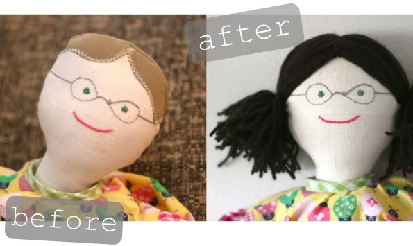 How to crochet Yarn Doll Hair