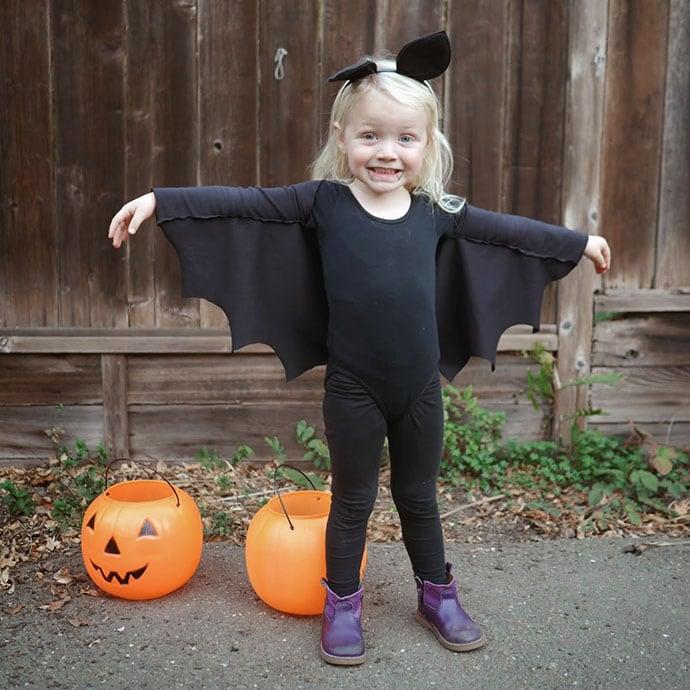 Diy vampire bat halloween costume - mypoppet.com.au