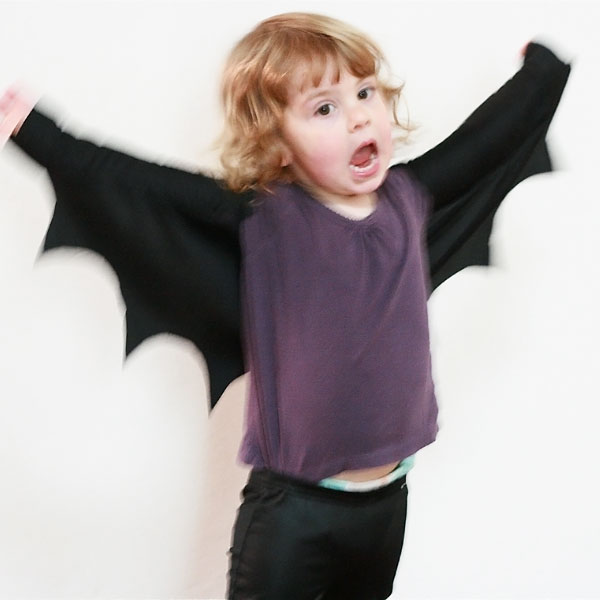 DIY bat wings costume