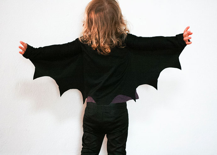 DIY bat wings - how to make instructions - mypoppet.com.au