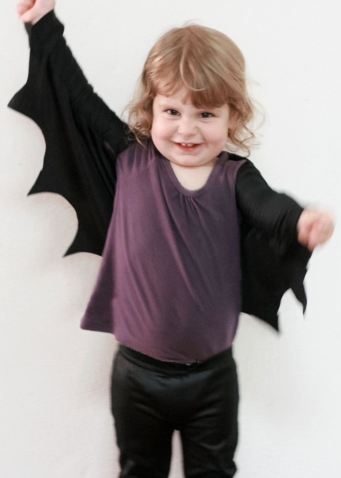 DIY halloween Bat costume. mypoppet.com.au