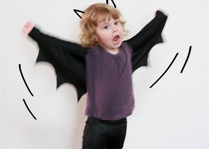 Halloween costume DIY Bat wings - mypoppet.com.au
