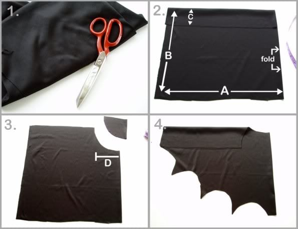 How to make Bat wings for Halloween - mypoppet.com.au