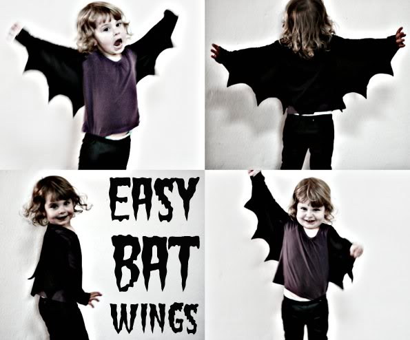 How to easy bat wings for halloween or dress ups my poppet makes how to make bat wings for halloween costume mypoppet solutioingenieria Choice Image