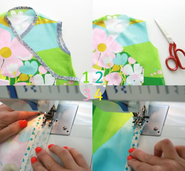 How to enlarge arm holes on a dress - mypoppet.com.au