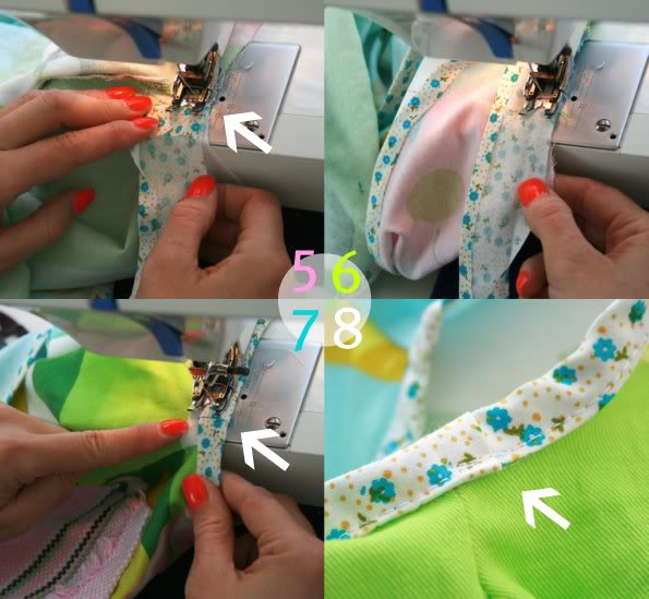 How to attach bias tape to sleeves - mypoppet.com.au