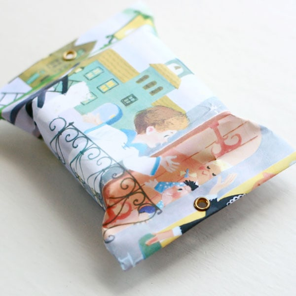 vintage storybook gift wrap soap