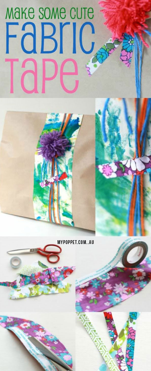 How to make adhesive decorative fabric tape
