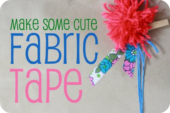 How to make decorative tape with fabric scraps - mypoppet.com.au