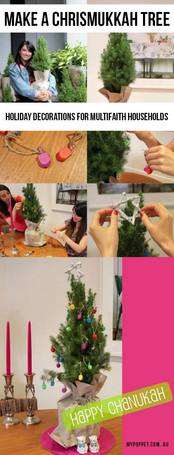 Chrismukkah tree - Holiday decorations for multifaith families - mypoppet.com.au
