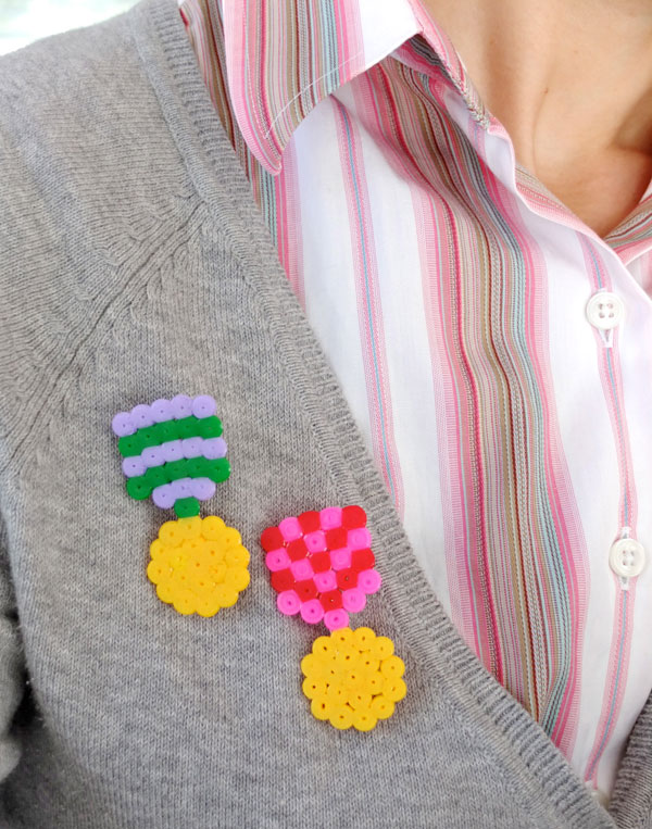 Make a Faux Medal Brooch with fuse beads - mypoppet.com.au