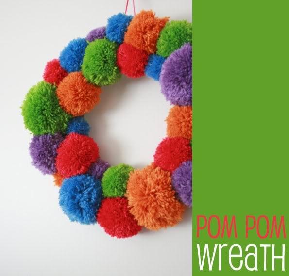 DIY Pom Pom Christmas Wreath - mypoppet.com.au